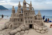 ~ Sand Sculptures ~ / Creativity is not so much a boundless well, but an all-you-can-eat buffet of elements for your creative endeavor.   ~ Vera Nazarian / by Diane Malavolti