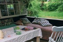 Buitenleven - overkapping / Veranda- overkapping - terras - afdak - porch - outdoor living - wooden veranda - buitenkeuken
