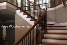 Stairs by Vines Woodworks, Inc. / www.VinesWoodworks.com https://www.facebook.com/VinesWoodworks Vines Woodworks, Inc. is a turn-key custom stair builder. We specialize in custom stairs including straight, curved, radius, freestanding. We do all phases of construction, including: new homes, remodeling, additions, as well as commercial stairs and additional finish carpentry.  / by Vines Woodworks, Inc.