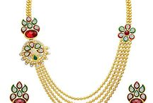 Attractive Indian Wedding Party Wear Strand Jewelry Necklace Set