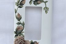 Design: Light Switch cover / hand-painting switch plate
