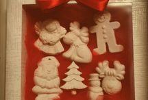 Gessi natalizi / Gessi profumati all'assenza di arancia. Ideali come segnaposto o piccoli pensieri
