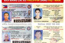 Đổi bằng lái xe Philippin sang Việt Nam