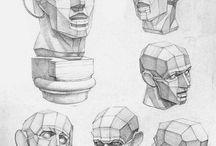 рисование головы