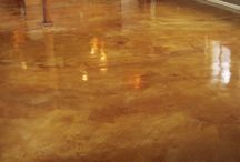 Acid Stained Concrete Floors / Acid stained concrete ideas and products.