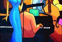 Chanteuse Jazz bleue