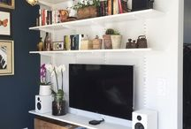 Living room tv/shelves