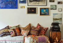 Creative picture frame configurations / creative placement of picture collections on the wall