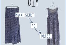Refashion Old Maxi Skirt Into A Dress