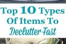 Declutter / organization