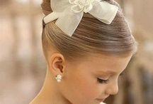 peinado de niña de fiesta