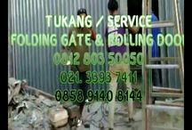 TEKNISI FOLDING GATE - 081280350050 - Jual, Service & Bongkar Pasang