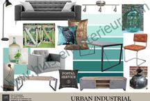 Urban Industrial Style / Interieurstijl: Urban industrial