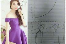 Model & Pola Gaun , Dress