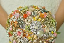 Button & brooch bouquets