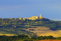 pienza / Pienza is in a really strategic position, high on the top of a hill that dominates a large valley, with a breathtaking view on the beautiful Val d'Orcia south of Siena, among inspiring hills, and an ever-new panorama of the whole countryside around.