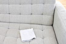 Deep clean natural-fabric couch