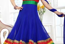 Anarkali Suits / Beautiful Anarkali Suits with Embroidery, Contrasting Yoke and Patchwork