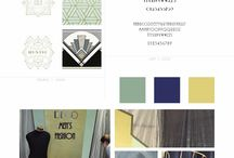 Dekoratőr vizsgamunkák . Decorator exam / Dekoratőr OKJ vizsgamunkák / központi téma - Art Deco