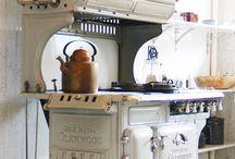 mutfak soba antika soba fırın