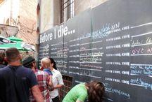 Pozytywne ściany - street art - inspiracje