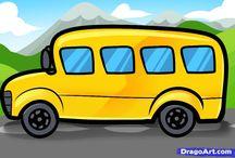 Рисовать автобус