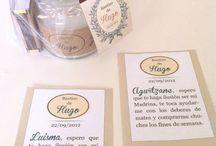 Etiquetas personalizadas para el bautizo