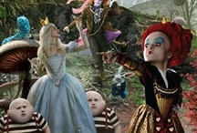 Alice in W:Tim Burton etc / Alice in wonderland (ilustrations/film)