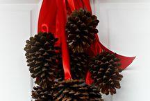 Christmas wreath ideas  / Pine cone