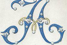 decorative letters - A