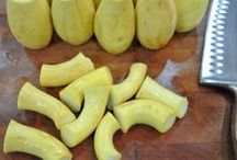 Crooked yellow squash