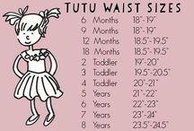 tutu waist sizes