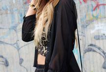 All black everything.  / My fashion wish board.