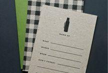 design | invitations / by Mandi C