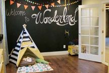 Chalkboarding / Chalkboard paint isn't just for walls!  And it's not just black either.