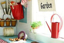 Allotment - shed / Shed inspiration and organisation  / by Emma Harrison