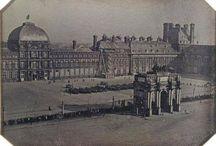 Paris-Les Tuileries & le Louvre / Les tuileries jardin et châteaux à l'origine. Le Louvre de château à musée