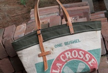 seed/feed bag totes / by Jared DeSimio
