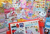 Kawaii Journaling / http://the.rainbowholic.me/tag/hobonichi-with-me
