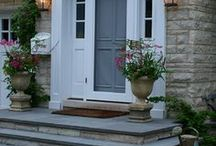front porch doors and stairs
