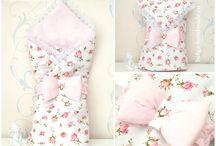 Конверт на выписку. / Постельное бельё, бортики в  кроватку, конверт на выписку, подушки.