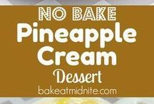 no bake pineapple cream