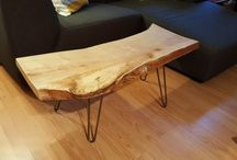 Custom live edge wood coffee tables / Taking orders now for custom dimensions ($300 and up)! Only servicing the GTA. Finished onto hairpin legs. 3 week delivery time. Private message me for details!