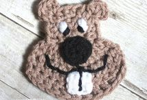 appliques, crocheted