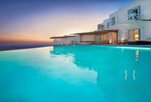 Villa Dione / Villa Dione is cited in a hilltop between the old port and Agios Stefanos close to the chora of Mykonos, with views of the Aegean Blue and the nearby islands...