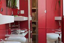 Banheiros que servem lavabos