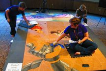 Chalk Twins 2015 Colossal Con / 2 very talented ladies making murals using only chalk!