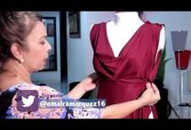 video vestido drapeado