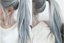 cheveux couleur gris