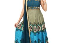 Designer Silk Gowns / Presenting trendy contemporary ethnic gowns